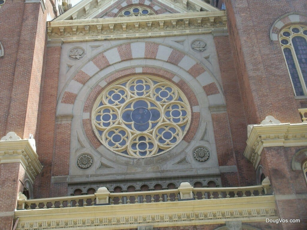 Rose window - St. Mary's Church - Detroit