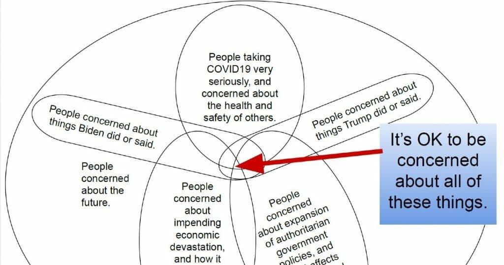 Venn Diagram COVID19 concerns
