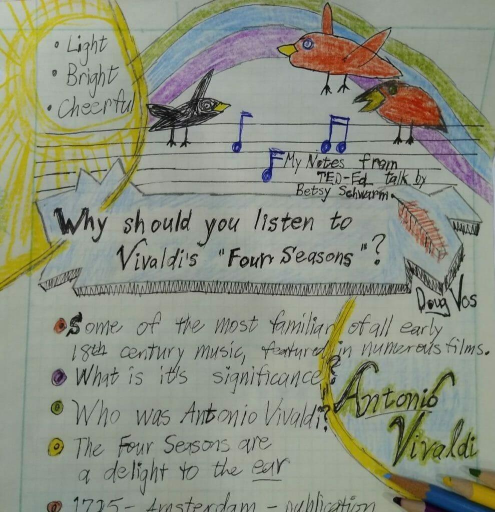 Vivaldi Four Seasons Music Notes - Light, Bright, Cheerful - birds singing. Who was Antonio Vivaldi?