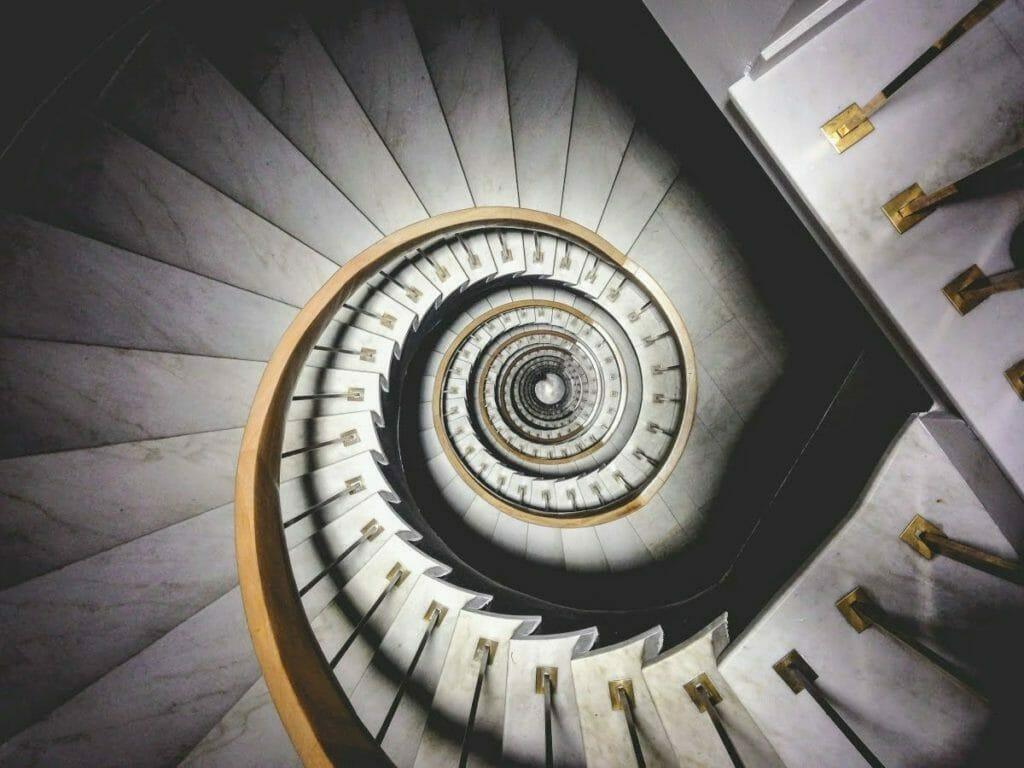 Circular Architectural Motif - example - a spiral staircase